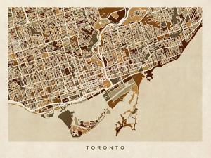 Toronto Street Map by Michael Tompsett