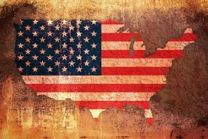United States Flag Map by Michael Tompsett