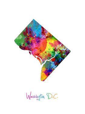 Washington DC, District of Columbia Map by Michael Tompsett