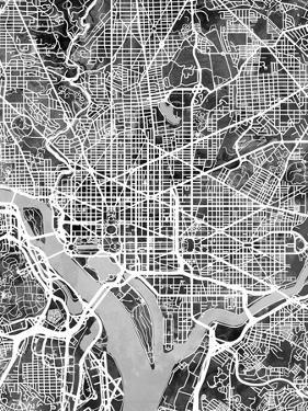 Washington DC Street Map by Michael Tompsett