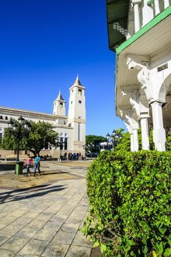 Town Square of Puerto Plata with Cathedral of St. Philip the Apostle by Michael