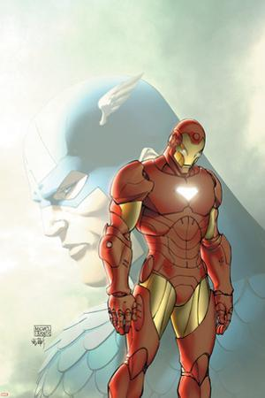 Fallen Son: The Death Of Captain AmericaNo.5 Cover: Captain America and Iron Man by Michael Turner