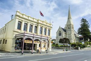 Victorian Historical Building and St. Lukes Church by Michael