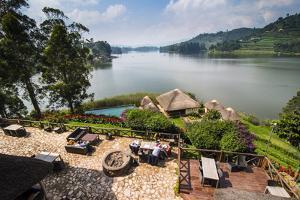 View over Lake Bunyonyi, Uganda, East Africa, Africa by Michael