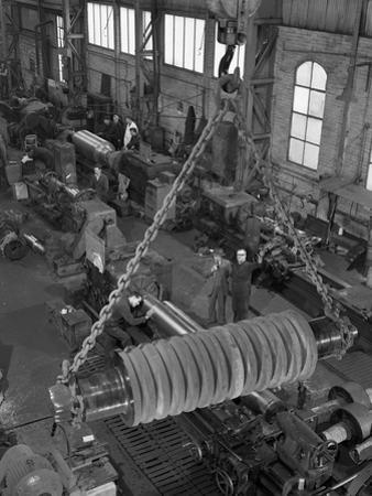 A Busy Foundry Shop Floor with Lathes, Wombwell, Near Barnsley, South Yorkshire, 1963 by Michael Walters