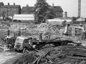 An Aec Mammoth Major on the Building Site for Sheffield University, 1960 by Michael Walters