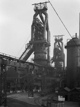 Blast Furnaces, Park Gate Iron and Steel Co, Rotherham, South Yorkshire, 1964 by Michael Walters