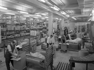 Boxes Being Packed Ready for Distribition, Stanley Tools, Sheffield, South Yorkshire, 1967 by Michael Walters