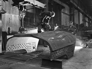 Constructing a Dragline Bucket, Edgar Allens Steel Foundry, Sheffield, South Yorkshire, 1962 by Michael Walters