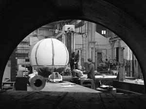 Construction of Deep Sea Inspection Chambers, Markham and Co, Chesterfield, Derbyshire, 1966 by Michael Walters