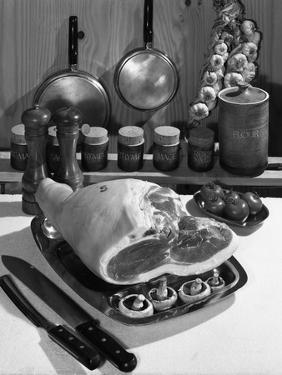 Danish Bacon Gammon Joint with Spice Jars, 1963 by Michael Walters