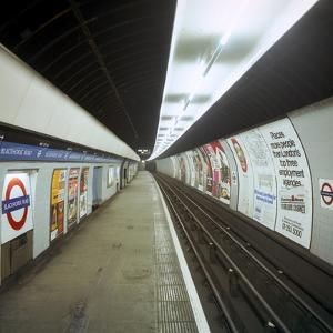 Empty Tube Station, Blackhorse Road on the Victoria Line, London, 1974 by Michael Walters