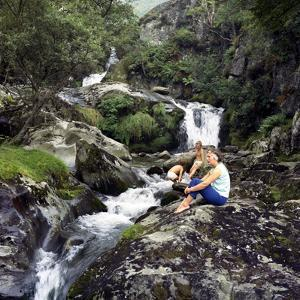 Family Scene at Dolgoch Falls, Snowdonia, Wales, 1969 by Michael Walters