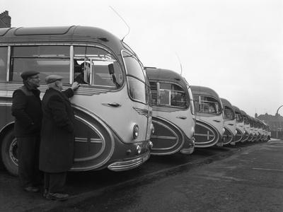 Fleet of Aec Regal Mk4S Belonging to Philipsons Coaches, Goldthorpe, South Yorkshire, 1963