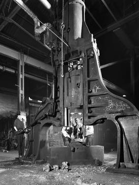 Forge in Action at Edgar Allens Steel Foundry, Sheffield, South Yorkshire, 1962 by Michael Walters