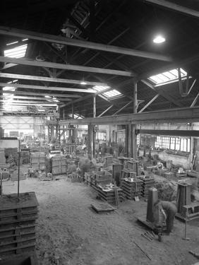 General View of the Foundry, at Green and Sons Ltd, South Yorkshire, Rotherham, 1963 by Michael Walters