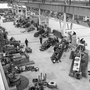 Lathe Workshop Area, Park Gate Iron and Steel Co, Rotherham, South Yorkshire, 1964 by Michael Walters