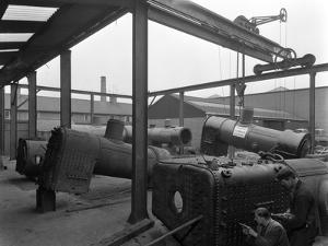 Locomotive Repairs, Doncaster, South Yorkshire, 1959 by Michael Walters