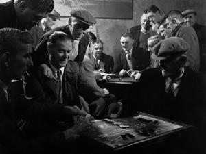 Miners Socialising at the Miners Welfare Club, Horden Colliery, Sunderland, Tyne and Wear, 1964 by Michael Walters