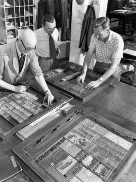 Newspaper Typesetting, Mexborough, South Yorkshire, 1959 by Michael Walters