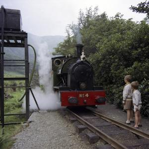 Number 4 Engine at the Dolgoch Falls Stop on the The Talyllyn Railway, Snowdonia, Wales, 1969 by Michael Walters