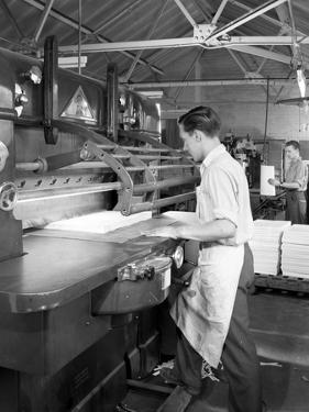 Page Cutting Guillotine in Use at a South Yorkshire Printing Company, 1959 by Michael Walters