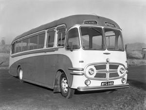 Pickerills Commer Coach, Darfield, Near Barnsley, South Yorkshire, 1957 by Michael Walters
