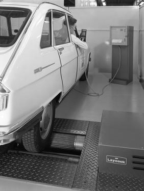Renault 16 Tl Automatic on a Laycock Brake Testing Machine, Sheffield, 1972 by Michael Walters