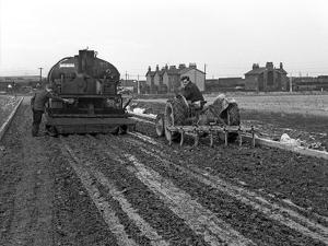 Road Construction Work, Doncaster, South Yorkshire, November 1955 by Michael Walters