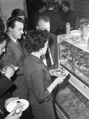 Sampling Chicken Patties, Wilsic, Near Doncaster, South Yorkshire, 1961