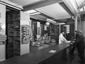 Shop Counter, Globe and Simpson Auto Electrical Engineers, Nottingham, Nottinghamshire, 1961 by Michael Walters