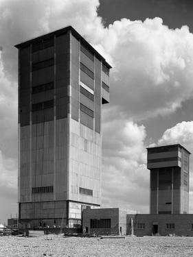 The Downcast Koepe Tower at Cotgrave Colliery, Nottinghamshire, 1963 by Michael Walters