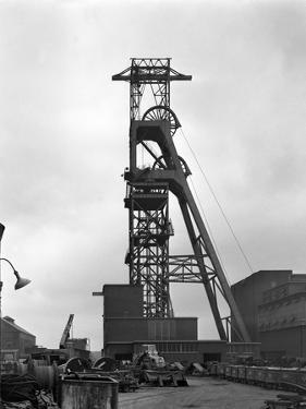 The Headgear at Clipstone Colliery, Nottinghamshire, 1963 by Michael Walters