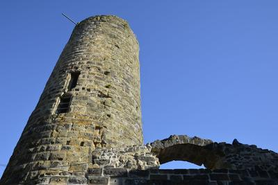 Ruin of the height castle of castle Staufeneck, Salach, Baden-Wurttemberg, Germany