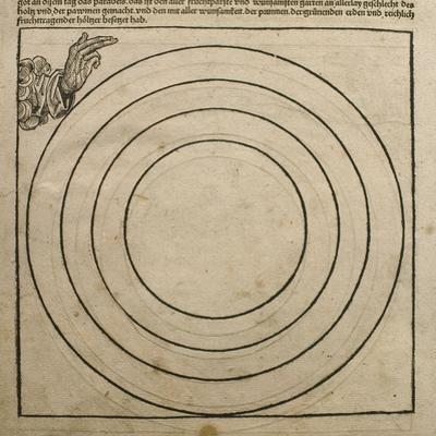God the Father Creating the Earth, Illustration from the 'Liber Chronicarum' by Hartmann Schedel