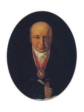 Portrait of Alexander Baranov, Chief of the Russian-American Company by Michail Tikhanov