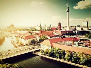 Berlin - Rotes Rathau And The River Spree by Michal Bednarek