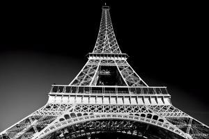 Eiffel Tower in Artistic Tone, Black and White. Paris, France. European Landmarks by Michal Bednarek