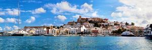 Panorama of Ibiza Old City - Eivissa. Spain, Balearic Islands by Michal Bednarek