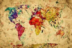 Vintage World Map by Michal Bednarek