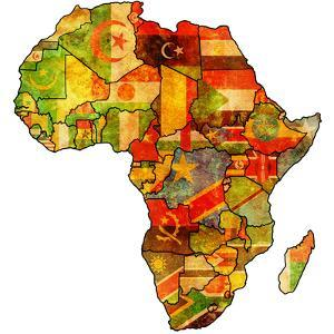 African Union On Actual Map Of Africa by michal812