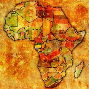 Gabon on Actual Map of Africa by michal812