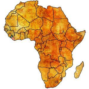 Liberia on Actual Map of Africa by michal812