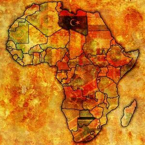 Libya on Actual Map of Africa by michal812