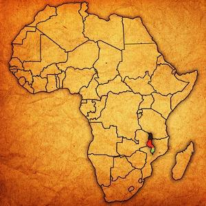 Malawi on Actual Map of Africa by michal812