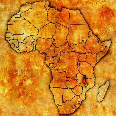 Malawi on Actual Map of Africa