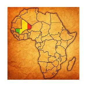 Mali on Actual Map of Africa by michal812