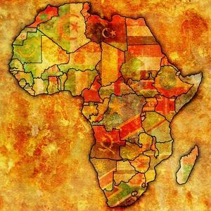 Morocco on Actual Map of Africa by michal812