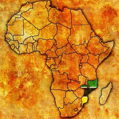 Mozambique on Actual Map of Africa by michal812