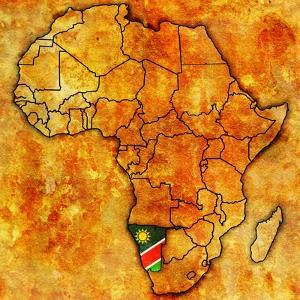 Namibia on Actual Map of Africa by michal812